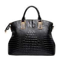 designer crocodile handbags - Luxury Crocodile Pattern Handbags Ladies Patent Leather Tote Bag Designer Big Clutch Purses Women Large Vintage Work Bag