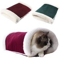 Wholesale Cute Pet Tunnel Style Bed Dog Warm House Soft Kennel Warm Cozy in Winter Small Mat