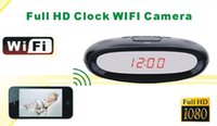 Wholesale Multi functional HD P wireless P2P WIFI Alarm Clock Hidden SPY Camera Video Recorder DVR View Angle IP Cam Motion Detection