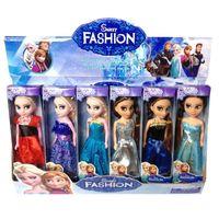 statues - 2015 Frozen Lovely New Elsa Princess Dolls Boneca Elsa and FROZEN Anna Good Girl Doll cm High For Christmas Gifts