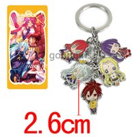 anime keychains - Anime Cartoon No Game No Life Keychains Metal Figures Pendants Key Chains ANPD1718