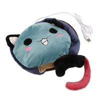 Wholesale Winter Hand Warm Heating Blue Cat Mouse Pad USB Heated PC Cartoon Gaming Mat
