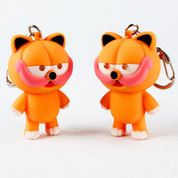 best gift finder - mini Garfield LED luminous voice keychain creative gift pendant cartoon flashlight by DHL Best gift
