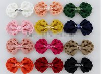 hair clip for kids - 18 OFF Baby Girls Boutique Hair Accessories FabricTextured Hair Bows WITH Hair Clips For Kids Headwear