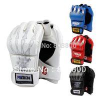 Wholesale Half Finger Boxing Gloves Sanda Fighting Sandbag Gloves PU Muay MMA colors