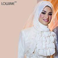 arabic head scarf - Simple Style Applique Lace Muslim Bridal Veils For Arabic Wedding Veils Top Quality Long Head Scarf