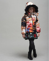 Wholesale 2014 monsoon new children winter down coat brand girls winter hooded padded jackets designer kids feather outerwear girl parkas