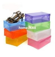 shoes box design - Drawer Design Shoe Storage Box Plastic and Clear Colorful Travel Storage Bag Box for Shoes and sundries