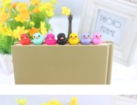 Wholesale cartoon duck cat cell phone anti dust plug earphone jacket accessories