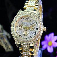 Wholesale new Luxury Womens Diamonds Watches Brand Date eyes Women Bracelet Ladies Designer Wristwatches MICHAEL watches