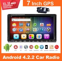 Wholesale DUAL CORE Inch CAPACTIVE Touch Screen Android Car Radio Stereo Double Din G Wifi GPS Car DVD CD Player In dash Audio BT Car DVD Vide