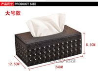 Wholesale Lightning striate cortex tissue box leather box with napkin bag mail box creative European car