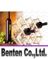 Wholesale Solid wood creative folding red wine frame of the home wine racks bottles of wine racks LLFA4584F
