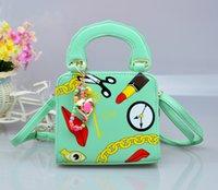 Wholesale 5 color children bags lovely girls princess inclined bag fashion handbag bags cartoon young girl Korean