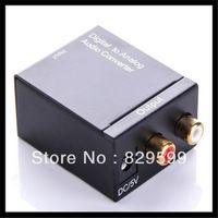 Wholesale Audio Converter Digital Optical Coax Coaxial Toslink to Analog RCA R L Audio Converter Adapter US EU UK Plug