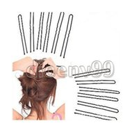 hair grip pin - retail BLACK invisible Hair Clips Flat Top Bobby Pins Grips Salon Barrette Wavy
