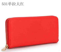 Wholesale European and American style hot sell wallet ladies fashion brand luxury wallets women zipper long purses a1123456