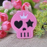 applique stitch machine - 2016 Rushed Cartoon Skull Hole Repair Patch Stickers Fashion Accessories Wool Clothes Decoration Applique Embroidered Logo Badge