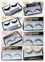 Wholesale False eyelash natural thick cross Eye end spin false eyelash