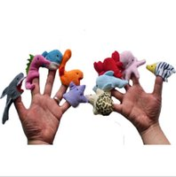 plush sea animals - Newest Baby Plush Toy Finger Puppets Educational Early Childhood pc sea animal group