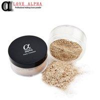 alpha base - LOVE ALPHA Colors Loose Face Powder Brand Makeup Base Long Lasting Control Oil Control Concealer Contour Palette White Powder