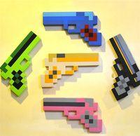 Wholesale 30pcs new arrive Minecraft Toys Sword Pick Axe Gun Foam Mosaic Sword Game Props Model Toys Kids Toys Birthday Christmas Gifts D237