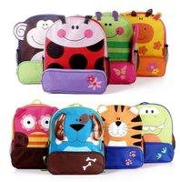 Wholesale children kids backpack shoulder bags boys grils cute cartoon animals backpacks hand bags kids school bags baby satchel bag
