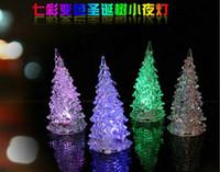 christmas tree led - HOT SALE Christmas Tree LED Night Light Halloween Gifts Crystal Lamp Lighting Changeable Colors