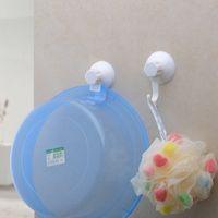 bathroom basin shelf - Suction cup basin seamless bathroom wall mount storage shelf towel rack coat hooks