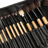 Wholesale Hot sale High quality makeup brushes set pinceis maquiagem professional makeup brush kit with leather case eyeshadow brush