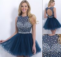 Wholesale Special hot dress sequins beaded homecoming graduation dress Homecoming sweetheart A line dresses short prom dresses cocktail dresses HY492