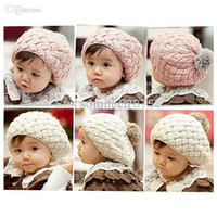 beret scarf - Kids Girls Baby Handmade Crochet Knitting Beret Hat Cap Cute Warm Beanie H6622 P