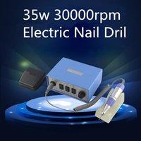 Wholesale Blue V w rpm Professional Fashion Electric Nail Drill Machine Set Graver Quality Professional Nail Art Tool