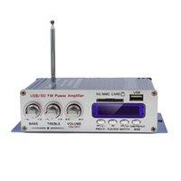 5pcs / lot HY-400 12V Digital Soporte Pantalla Amplificador dvd de tarjetas USB / SD coche de entrada con CEC_827 Control Remoto