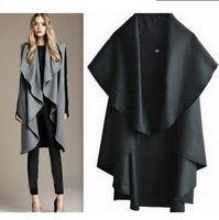Cheap Free shipping 2013 autumn and winter women wool coat red cloak cape woolen overcoat woolen outerwear FT131
