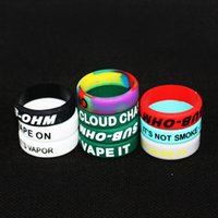 glow in the dark silicone bands - custom your name Colorful glow in the dark silicone vape band mech mod silicone vapor band o band round silicone ring for atomizer and mods
