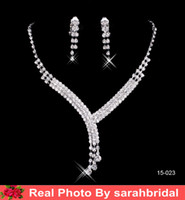 classic wedding dress - Cheap Bridal Jewelry Sets For Wedding Brides Bridesmaid Women Evening Prom Party Dresses Accessories Necklaces and Clip Earrings