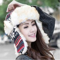 Wholesale New men lady winter snow Lei Feng cap thickened ear Korean tidal outdoor ski warm hat Northeast