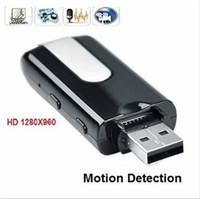 Wholesale U8 HD Mini USB Disk Cmera DVR Motion Detect Camera Cam Hidden Camera
