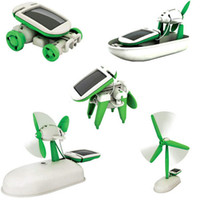 Wholesale Solar Power in Toy Kit DIY Educational Robot Car Boat Dog Fan Plane Puppy toys