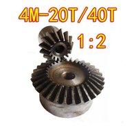Wholesale 1 M T T Degree precision gear drive bevel gear M teeth with40 teeth set