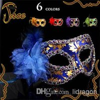 Wholesale Party masks masquerade mask Venetian mask women Lady Sexy masks Side with flowers