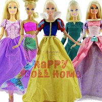 baby girl play - 5 Set Original Fairy Tale Princess Dress quot Doll Clothes Party Outfits For Barbie Doll Girl Pretend Play xMas Gift Baby Toy