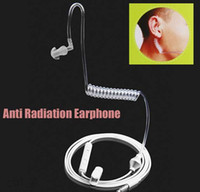 air headphone - Stereo Monaural mm Anti Radiation Earphone Air Spring Duct Earhook Headphone For iPhone Samsung All Phone MP3 mp4
