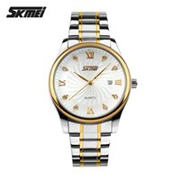 alloy steel hardness - Skmei Watches Men Luxury Brand Waterproof Watch With Calendar Japanese Movement Watch German High Hardness Glass Stainless Steel Relogio