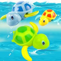 Wholesale Christmas Gift Wind up Turtle Baby Infant Bathing Toys Piece Dabbling Kids Toys
