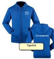 Wholesale print logo Subaru car logo jacket SUBARU S work clothing store for men and women racing repair service zipper sweater