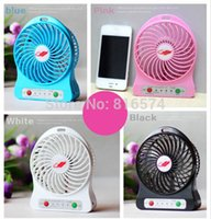 Wholesale 2PCS F95B Portable Mini USB Fan Battery Operated Rechargeable with LED Light for Indoor Outdoor Camping Children Hiking