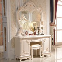 bedroom furniture stools - Temple latest European dresser bedroom dresser supporting French ivory furniture send makeup stool