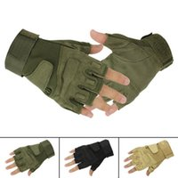 Wholesale Fingerless Military Tactical Airsoft Hunting Riding Game Glove Outdoor Sports